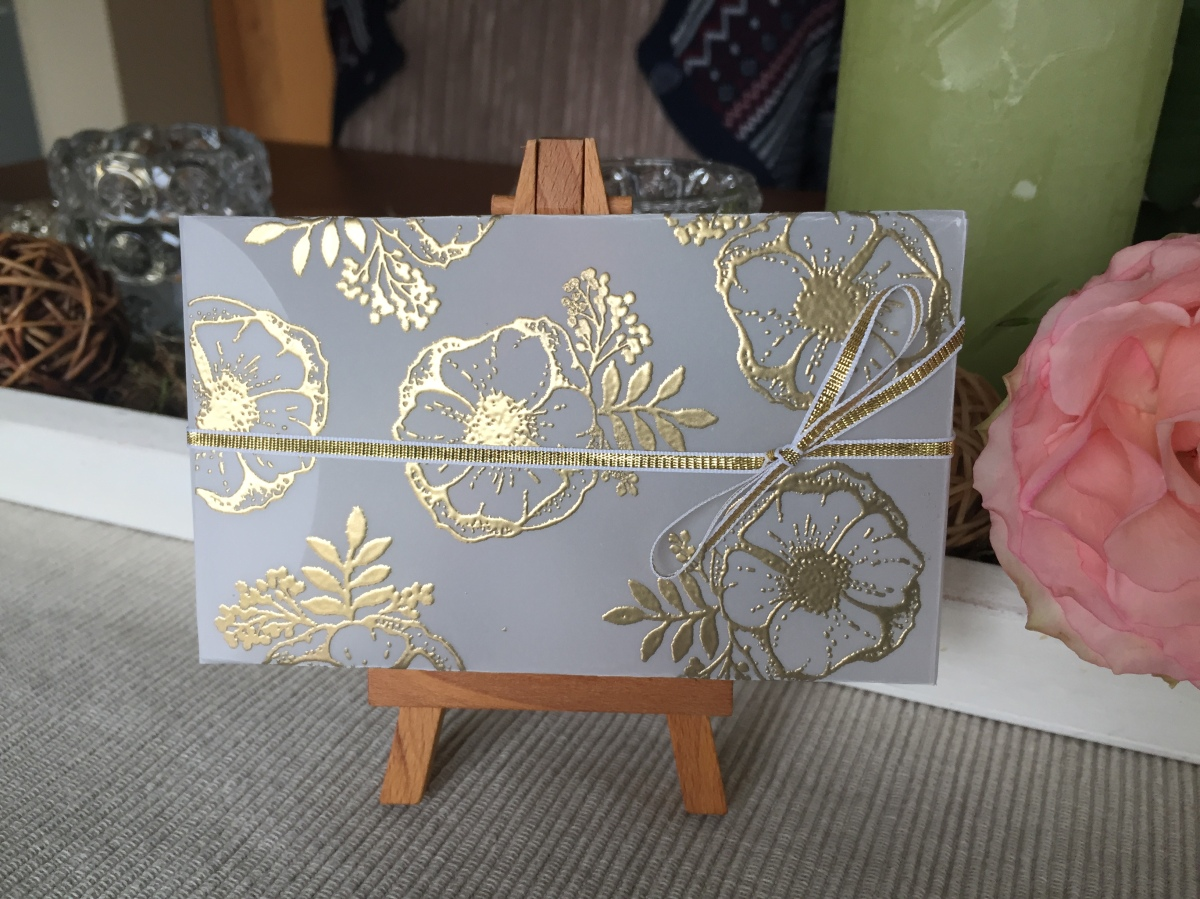 2018#7   Edle Box in Gold oder Silberembosst